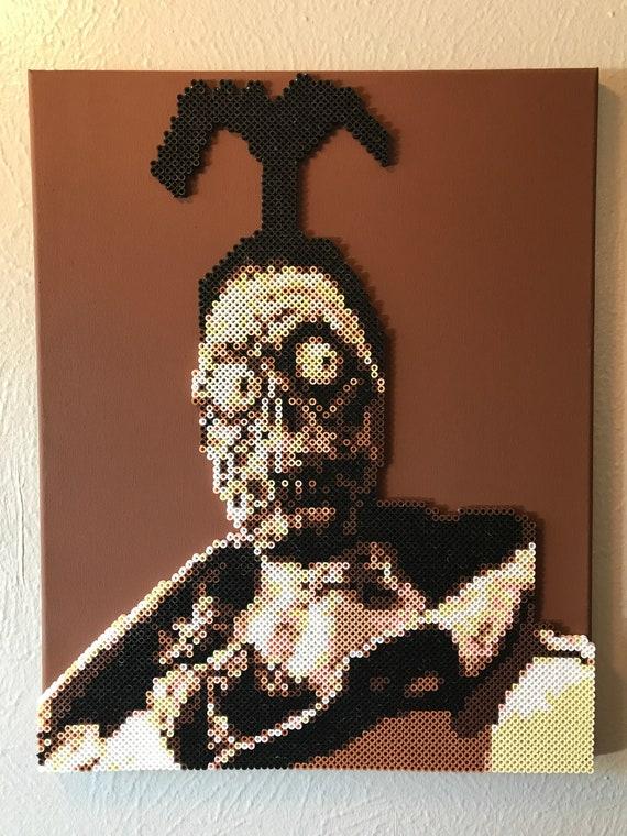 Beetlejuice Shrunken Head Man Portrait Made From Thousands Of Etsy