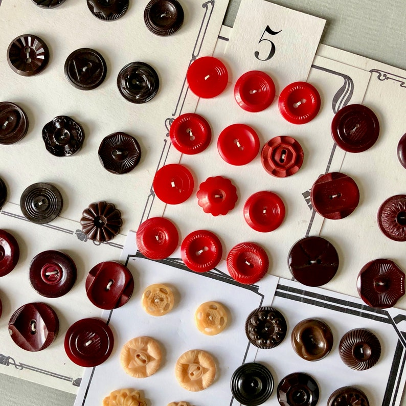 Assorted Fancy Buttons in Plastic and Bakelite