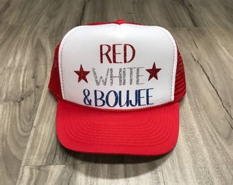 39ae4686042ab0 Red White And Boujee Trucker Hat Fourth Of July Hats Memorial Day Women's Trucker  Hats Patriotic Hats
