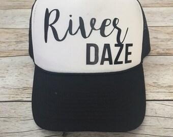 River Daze Trucker Hat Women's Trucker Hat Women's Hats River Trucker Hats Vacation Hat