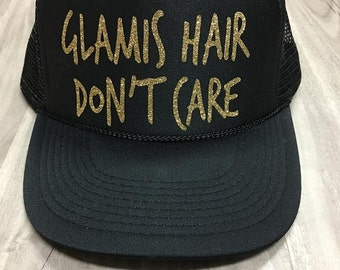 Glamis Hair Don't Care Trucker Hat Mesh Camping Desert Riding Country Women's Ocotillo Glamis Dunes