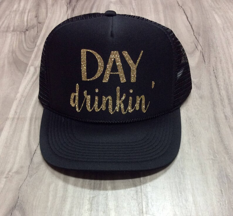 607fa8dd40c8a Day Drinkin  Trucker Hat Brunch River Lake Summer Trucker