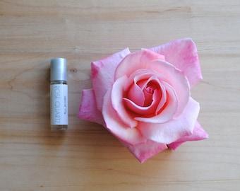 Rose Quartz Perfume Oil, Raspberry, Hibiscus, Rosewater, Hibiscus Tea Perfume