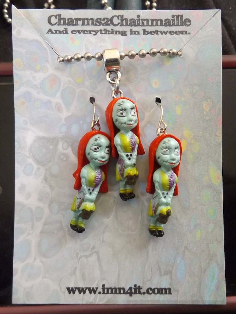 Sally Corpses Bride Necklace and Earrings