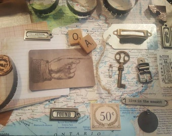 Vintage Assemblage Items---Art Inspiration-  20+ items included!