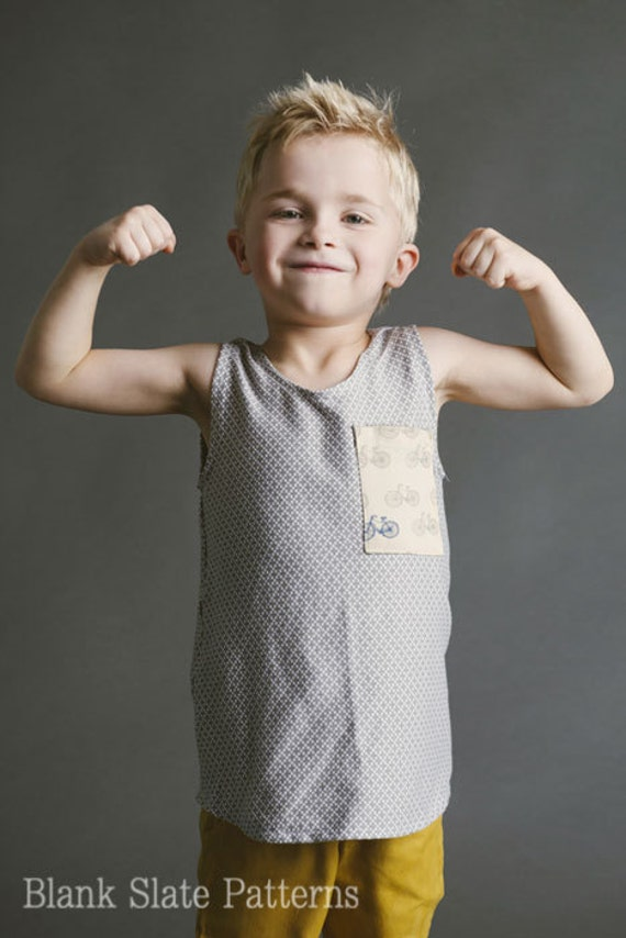 Blank Tank Top Sewing Pattern Boys Girls Toddler 18m 2t 3t 4t Etsy
