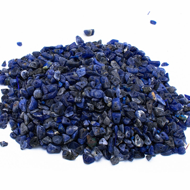 jewelry making sodalite tiny chips beads 4-8mm DIY crafts genuine sodalite drilled loose chips wholesale beads