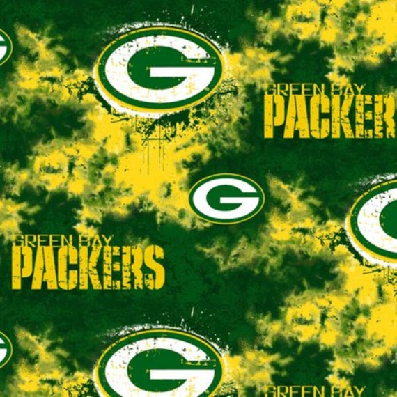 Nfl Green Bay Packers Camo Fleece Fabric 60 X 36 By The Etsy