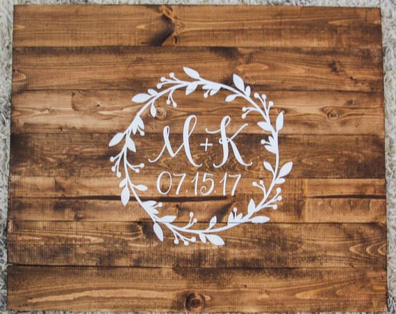 Custom his and hers wedding sign, wedding decor, bride and groom, wedding date, wood sign, wooden decor, real wood, floral, last name sign