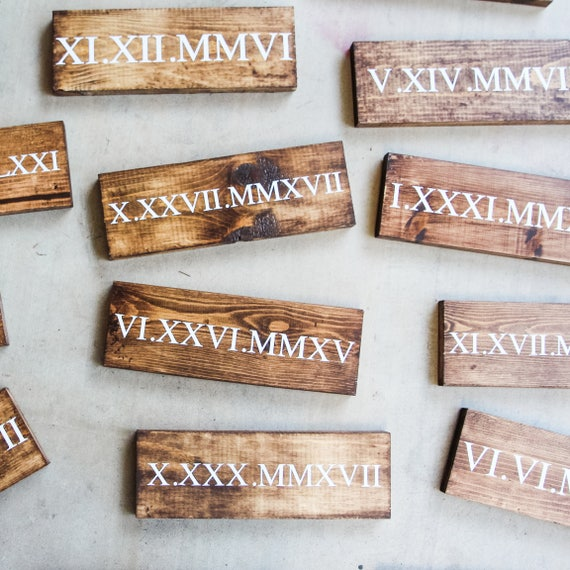 Roman numeral date sign, wedding date, custom his and hers, birthday, wood sign, wooden decor, special occasion, save the date, family sign