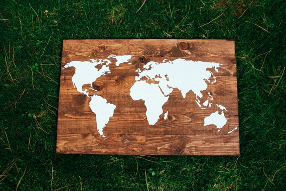LARGE Wooden World map wood sign pallet decoration family room, living room, customize, custom home decor, custom world map, welcome gift
