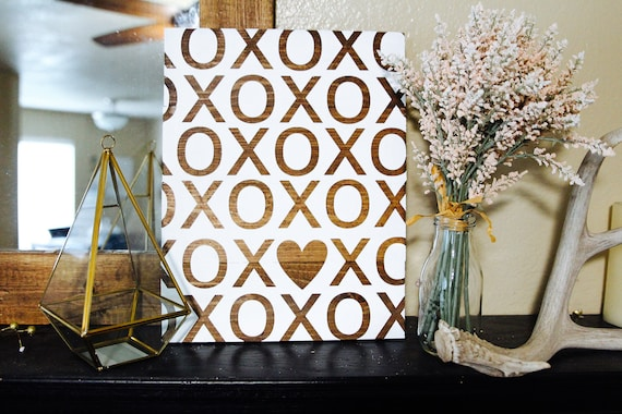 XOXO love sign, valentines day, love, wedding, cute love sign, xo heart, I love you, bride and groom, his and hers, bridesmaid gift