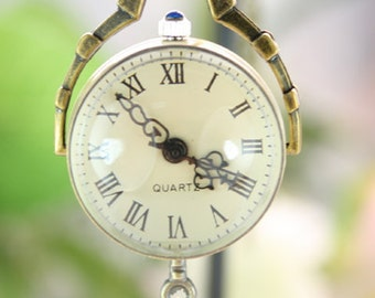 1pcs Antique Bronze   Watch Charms Pendant with chain ty140720