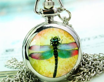1pcs mirror   Watch Charms Pendant with chain ty144565