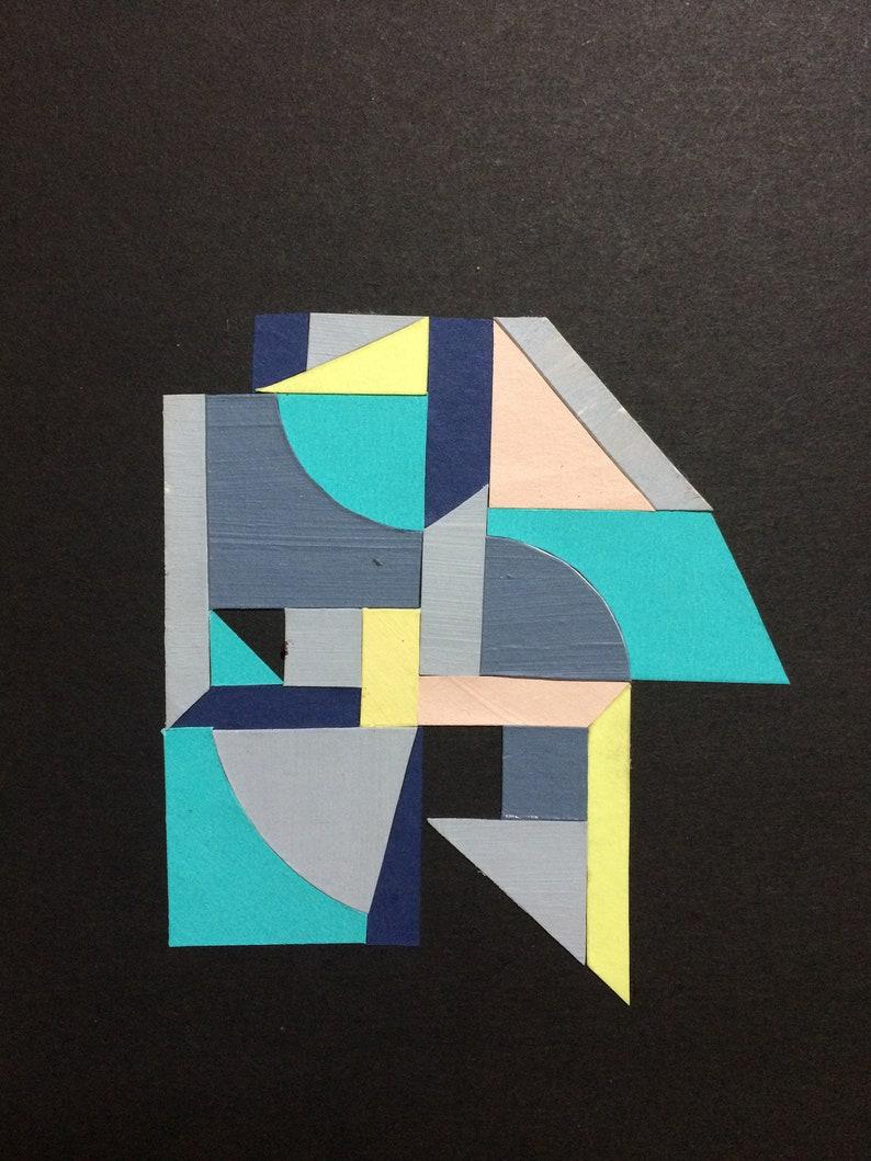 Shape Study No.1 paper collage