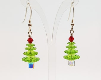 Christmas Tree Earrings Christmas earrings Christmas Gift for her Green Earrings Festive Earrings Xmas Earring Xmas Tree Earrings