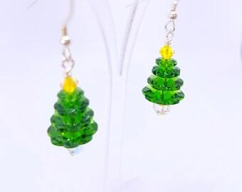 Christmas Earrings Christmas Tree Earrings Christmas Gift For Her Festive Earrings Holiday Earrings Xmas Earrings Xmas Tree Earrings