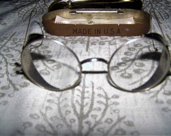 Vintage Willson Folding Motorcycle Goggles/Glasses - 1922