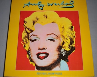 """Vintage 1998, 500 Piece Puzzle Inspired By Andy Warhol's """"Shot Red Marilyn"""" 1964 Art"""