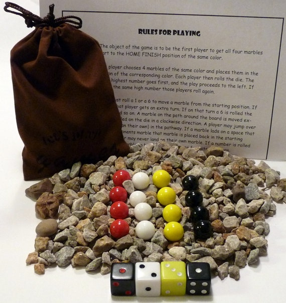 Aggravation Marbles Dice Game Bag Etsy