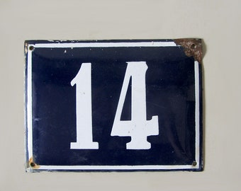Vintage French Plate Number