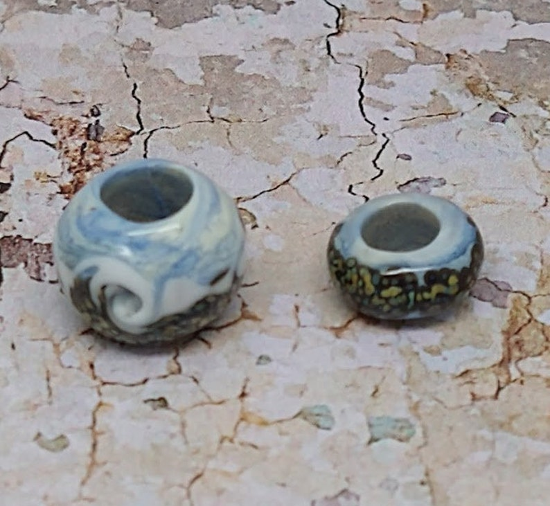 Lampwork uncord Big Hole Charm Bead Silver Bracelet not included