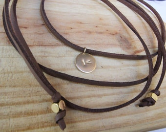 The One Less Campaign Leather Wrap with Charm