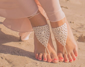 Barefoot Sandals- Boho Wedding Sandals- Beach Wedding Barefoot Sandals- Foot Jewelry- Barefoot Wedding- Bridesmaid Gift- Boho Wedding Shoes