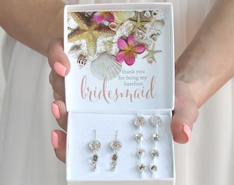 Bridesmaid Thank You Gift- Beach Wedding Bridesmaid Gift Box- Thank you for being my Barefoot Bridesmaid-  Barefoot Sandals- Foot Jewelry