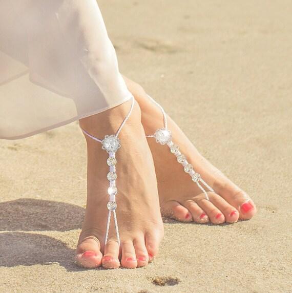f942764e81a Bidal Barefoot Sandals Bridal Foot Jewelry Beach Wedding
