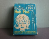 Vintage Gayla Hair Pins 1960s in original box