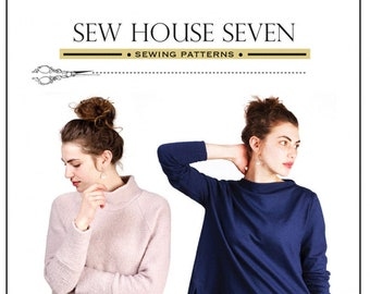 The Toaster Sweaters Knit Top for Women Sewing Pattern by Sew House Seven.  Sizes XS-XXL.  Paper Pattern in Envelope. Beginner Sewer.