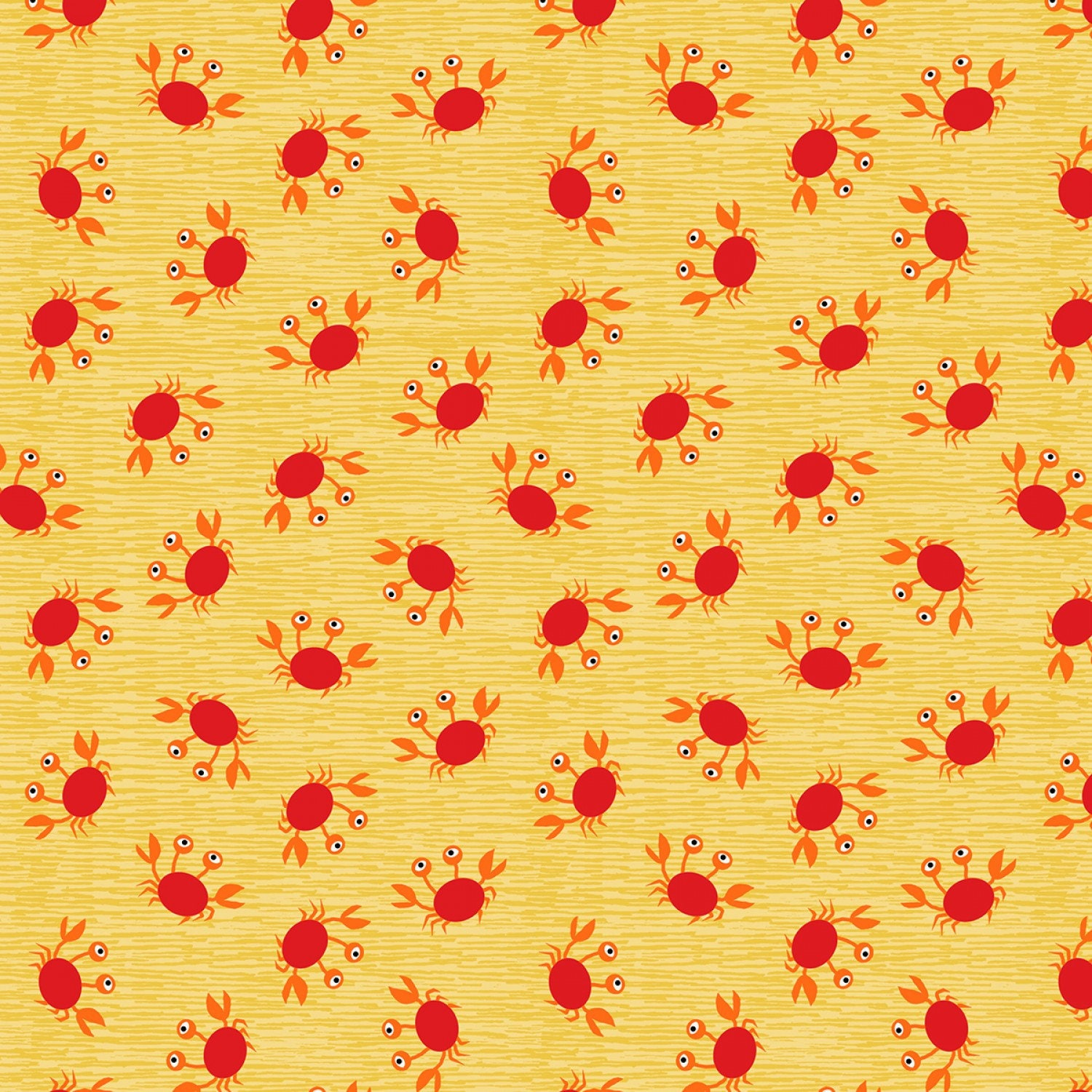 d4d868f6c115f Red Crabs on Yellow Fabric by Timeless Treasures Snorkel