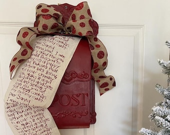 Dear Santa Letter, Christmas Ribbon, Mailbox