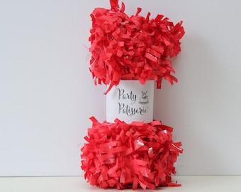 Fringe Garland Party Decor (Red)festooning, Valentine, Christmas