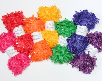 Fringe Garland, Festooning, Tissue  Rainbow Colors, Party Decor