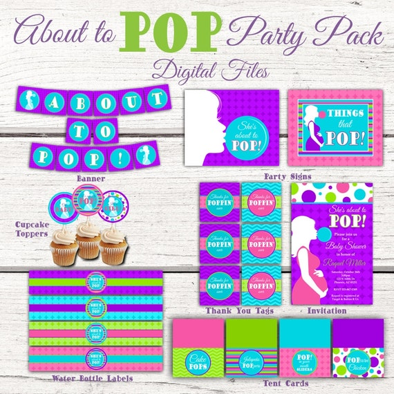 Ready to Pop Baby Shower Banner Personalized Party Backdrop