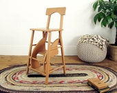 step stool,wooden stool,vintage ladder,kitchen stool,rustic stool,plant stand,step ladder,antique stool,farmhouse antiques,rustic decor