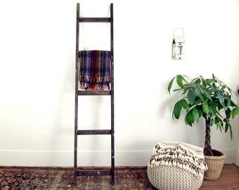 blanket ladder,wooden ladder,wood ladder,vintage ladder,rustic ladder,step ladder,farmhouse antiques,rustic decor