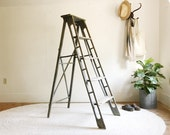 vintage ladder,wood ladder,step ladder,wooden ladder,antique ladder,farmhouse antiques,rustic home decor,primitive antiques