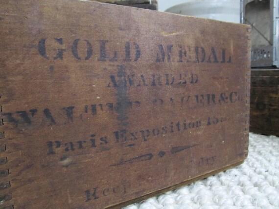Caisse en bois vintage caisse caisse industrielle boîte de