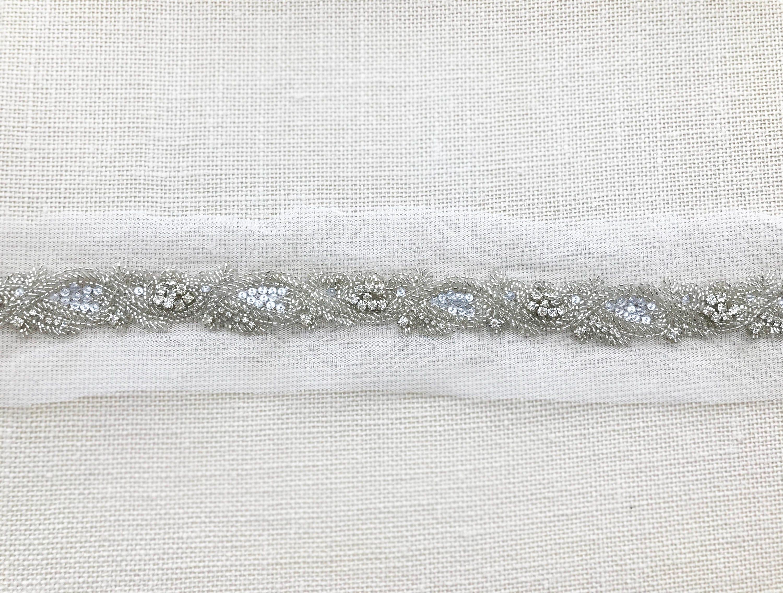 DIY DIY DIY ceinture de mariage, Bridal ceinture Trim, bricolage Bridal Sash, perles de mariée Trim, bricolage ceinture de mariée, mariée Sash Applique - 18 pouces - SI003 ea71ed
