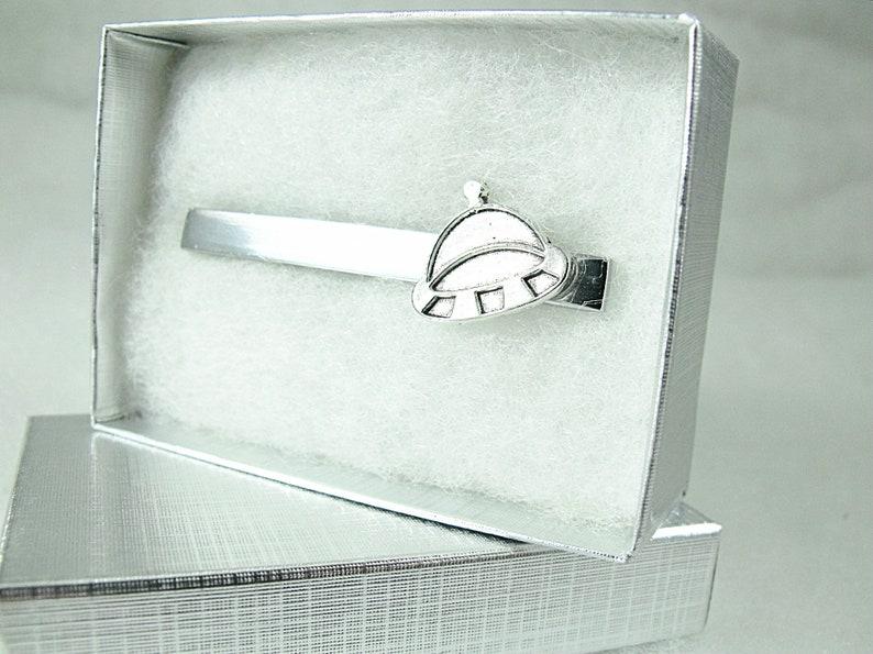 Silver UFO Tie Clip