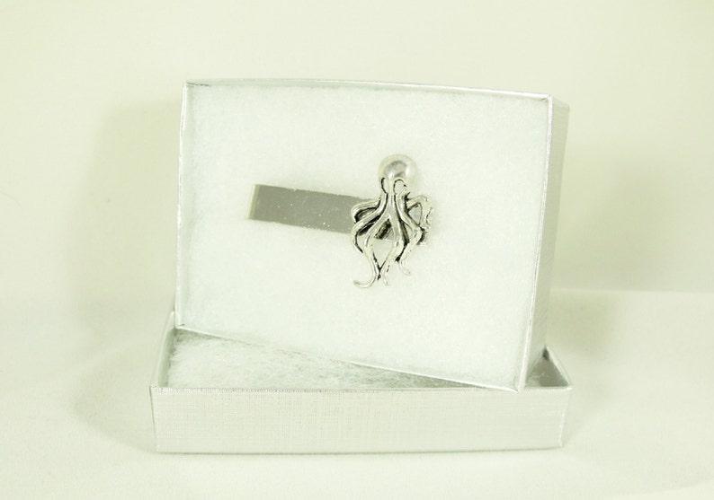 Tie Bar Tie Clip Wedding Jewelry Mens Steampunk Silver Octopus  Mens Accessories Groomsmen Gift
