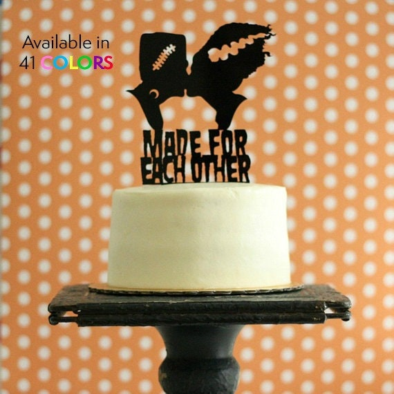 Frankenstein Bride Silhouette Wedding Cake Topper For Etsy