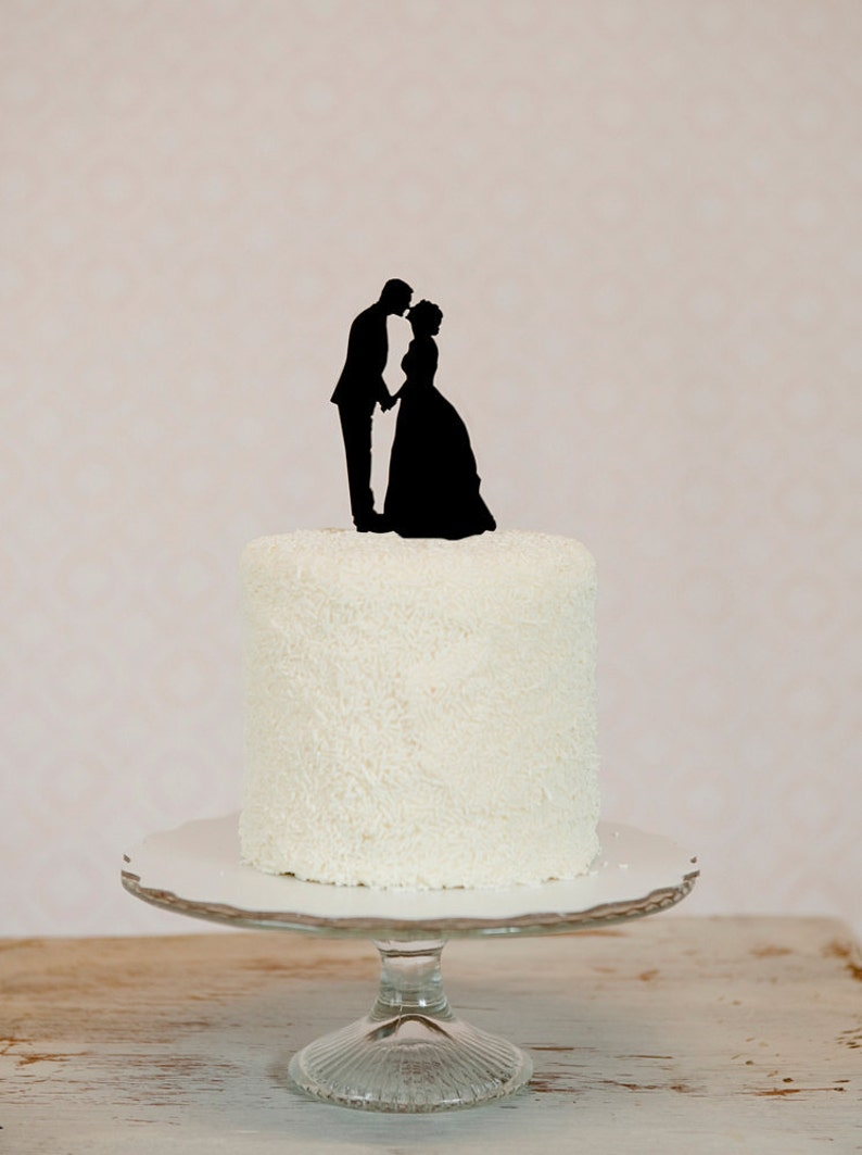 0fb2b8c9252801 We Put YOUR OWN Custom Silhouettes on a Wedding Cake Topper | Etsy