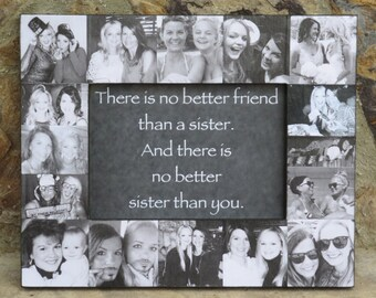 """Sister Collage Picture Frame, Personalized Maid of Honor Picture Frame, Custom Collage Bridesmaid Frame, Best Friend Gift, 5"""" x 7"""""""