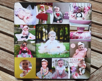 First Year Collage Picture Frame, Custom Baby Frame, Baby's First Year, Unique Baby Gift, Mother's Day Gift, Photo Collage, Father's Day