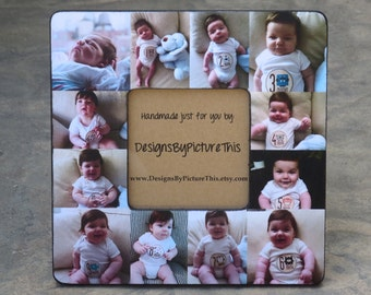 Personalized Babys First Year Frame Baby Collage Picture Etsy