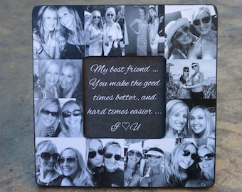 gift for best friends photo collage gift for sister etsy